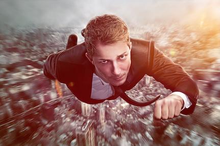 Self-hypnosis Superhero Businessman