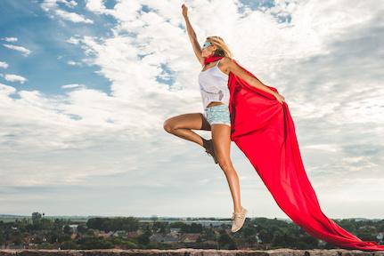 Self-hypnosis superhero or wonderwoman
