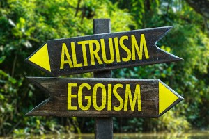 selfishness, altruism and egoism
